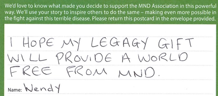 The MND Association was always going to feature in my Will